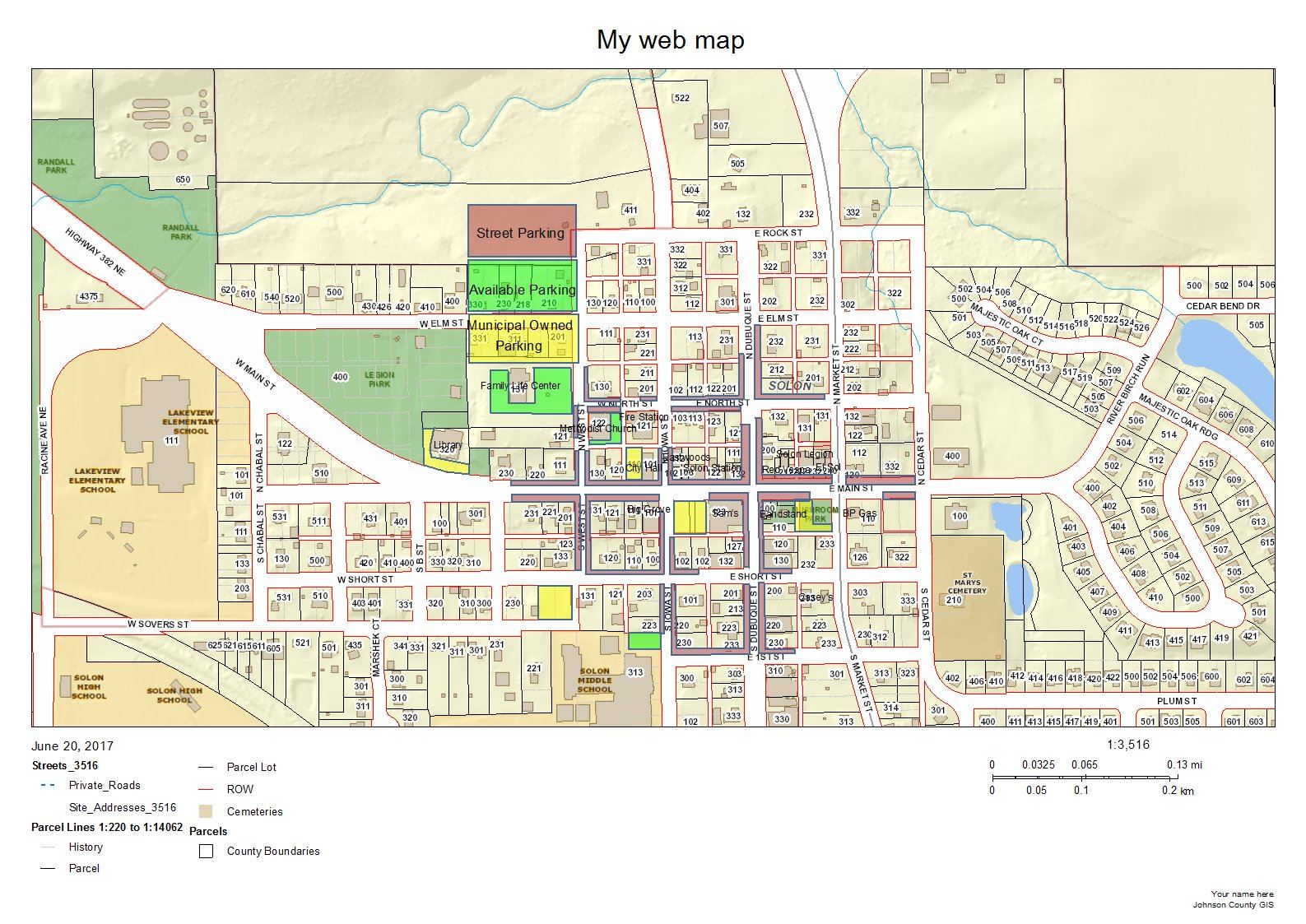 IA-Solon Parking Map